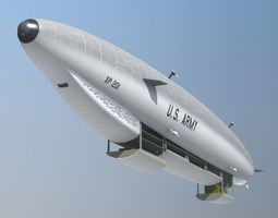 Sci Fi Army Airship 3D model