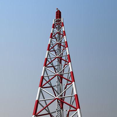 radio tower 3d model 3ds lwo lw lws 1