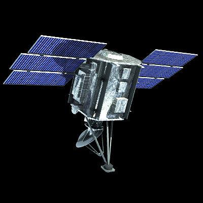 quik scat satellite 3d model 3ds lwo lw lws 1