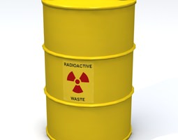 3D model Radioactive 55 Gallon Drum