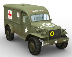 WC 54 Military Ambulance 3D