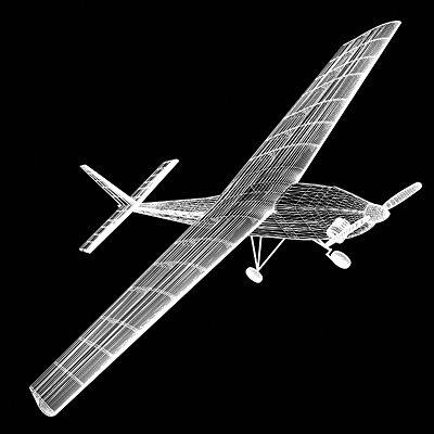 rc airplane 3d model lwo lw lws 4