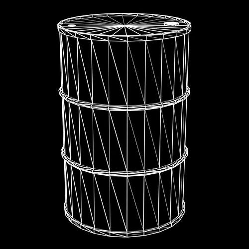 flammable 55 gallon drum 3d model obj 3ds fbx lwo lw lws blend mtl 2