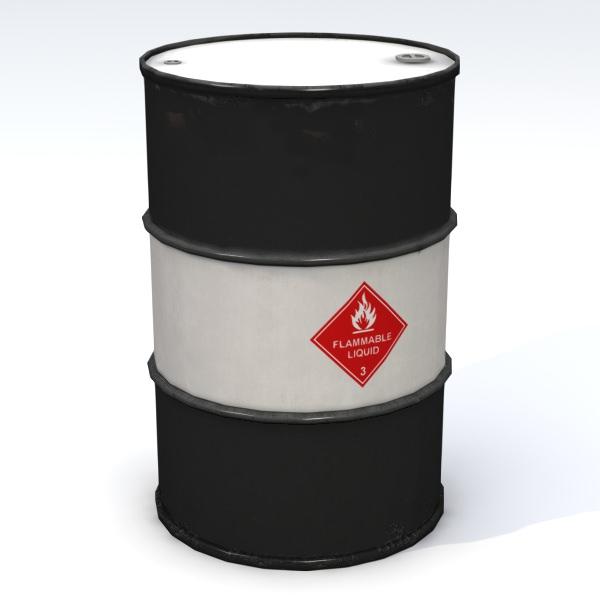 Flammable 55 gallon drum free 3d model obj 3ds fbx lwo for Metal 55 gallon drum