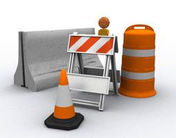 3D Traffic Barriers