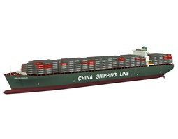 3d xin los angeles cargo ship