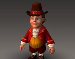 Cartoonish Civilian Male 3D Model