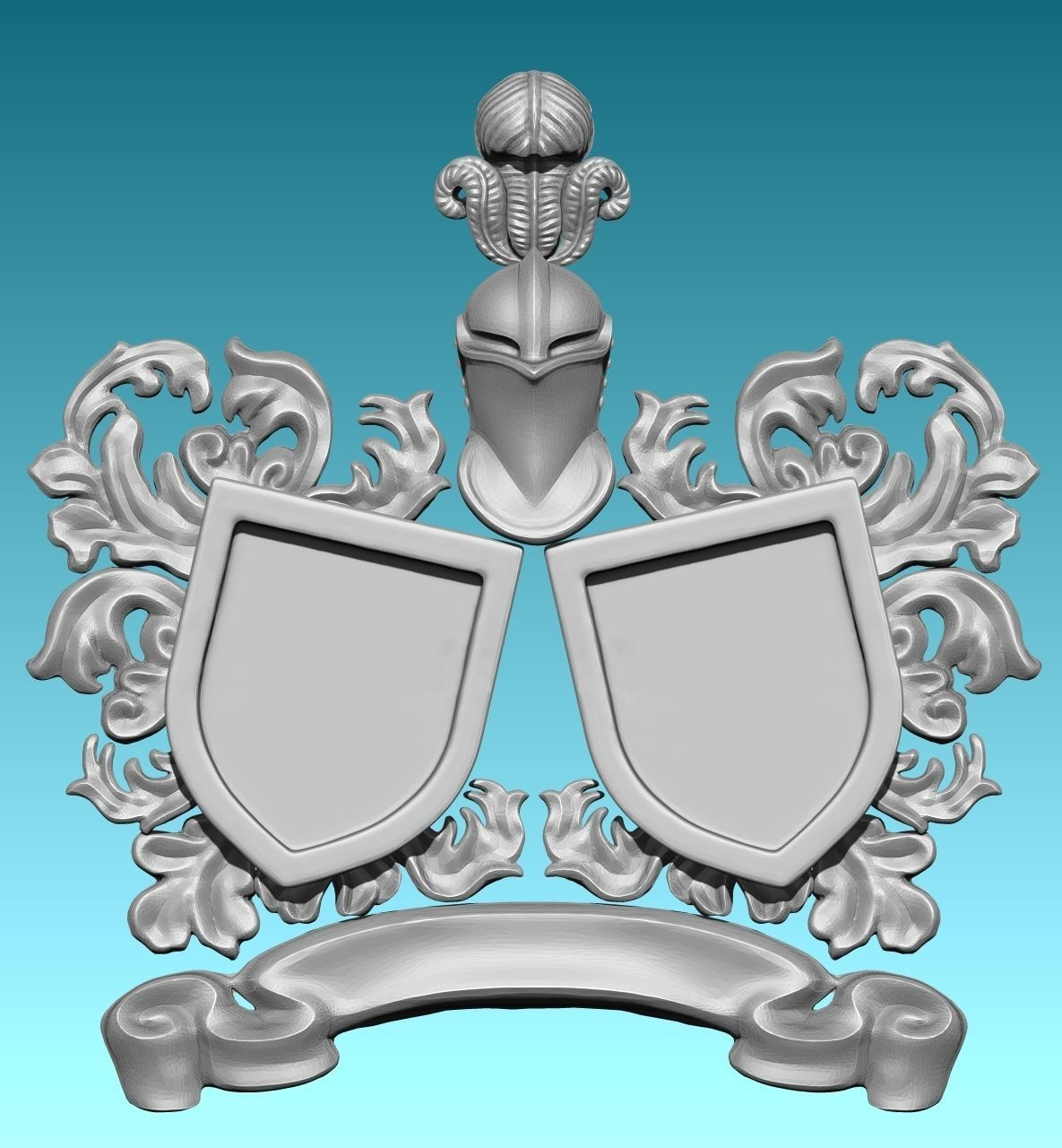 Medieval Blazon-Coat of Arms -  Exchangeable parts CNC