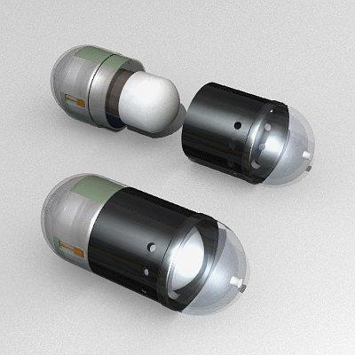 pill camera 3d model 3ds lwo lw lws 1