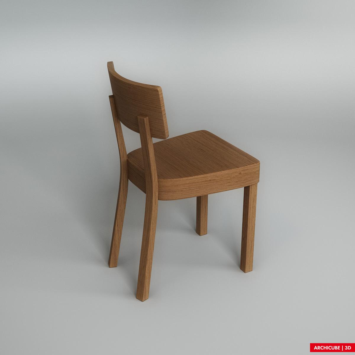 Wooden Chair 3d Model Max Obj Fbx