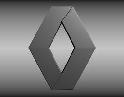 3d renault logo
