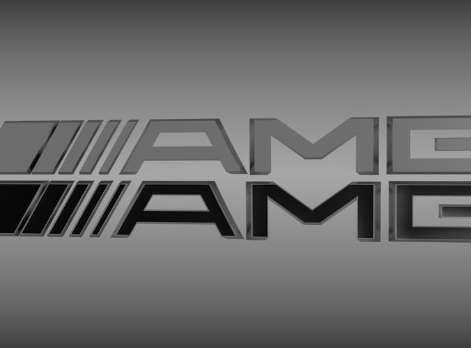 AMG logo set3D model