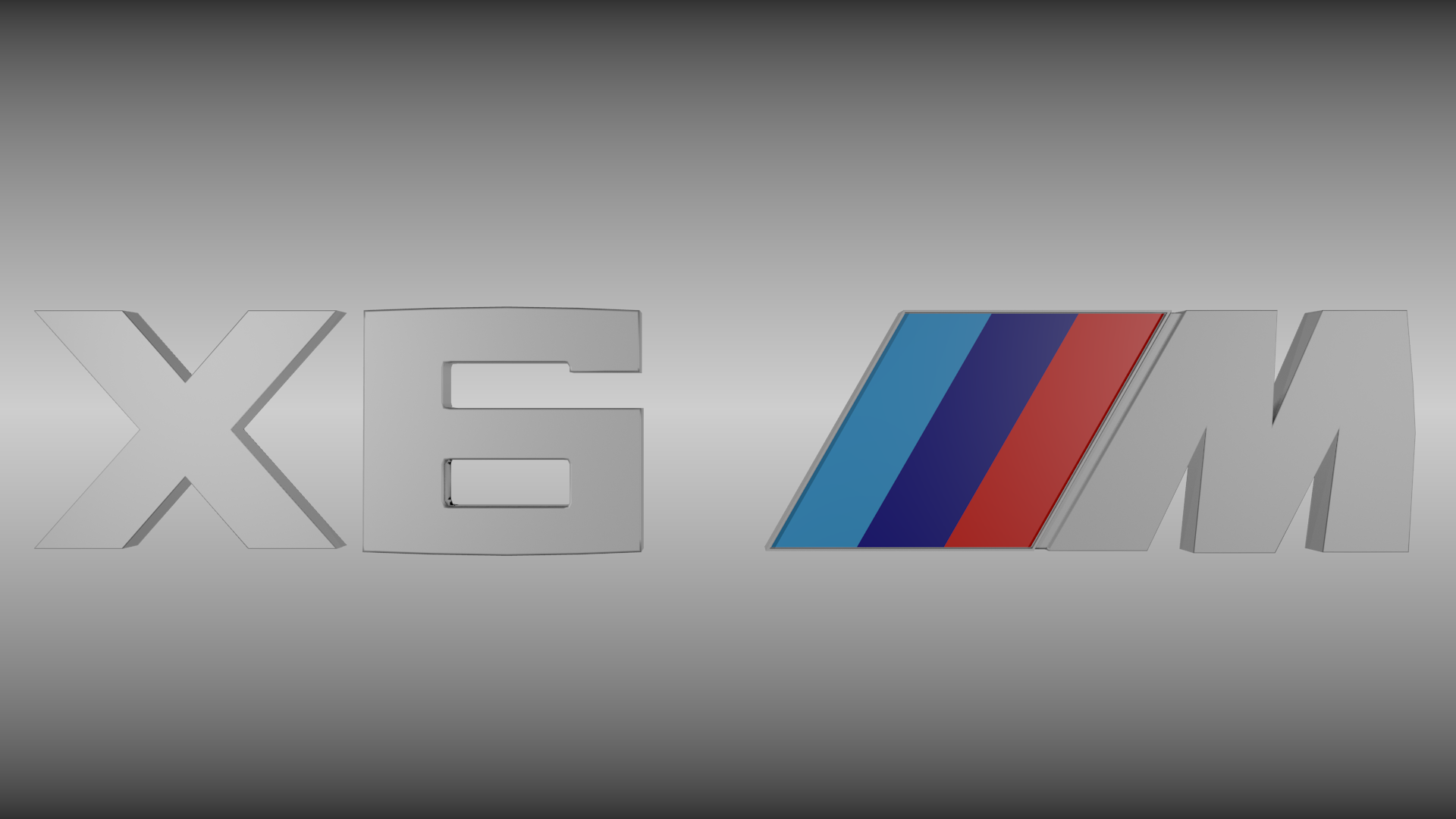 Bmw X6m Logo 3d Model Obj Blend Cgtrader Com
