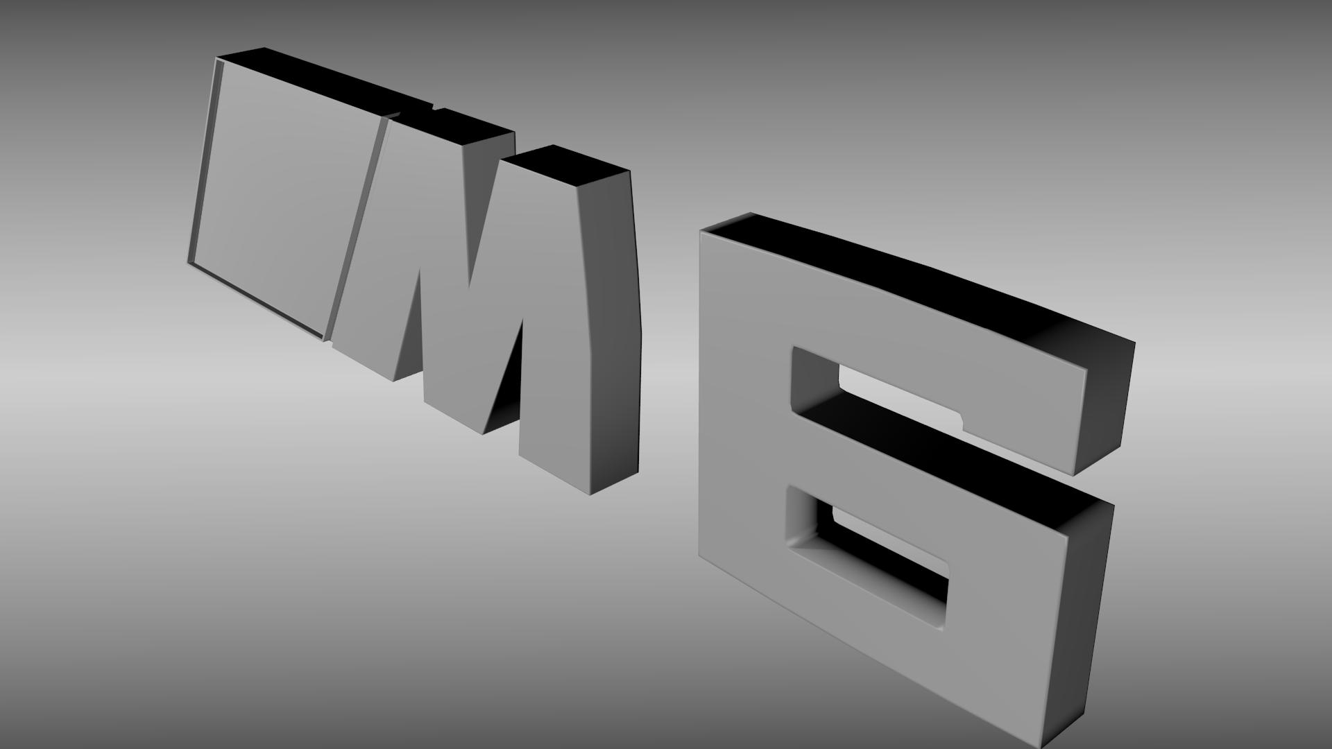 bmw m6 logo 3d model obj blend cgtradercom