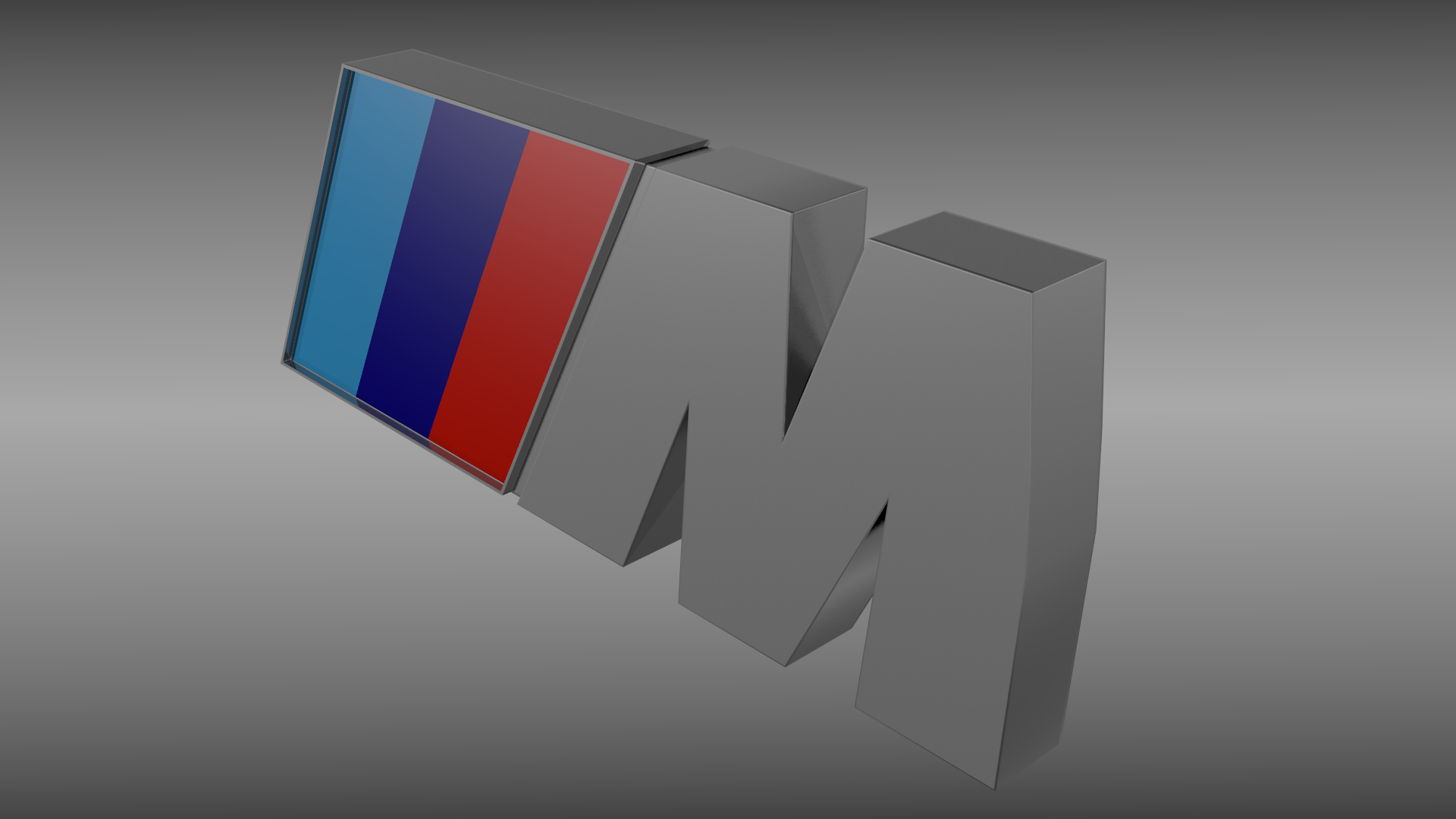 M Logo 3d BMW M logo 3D M...