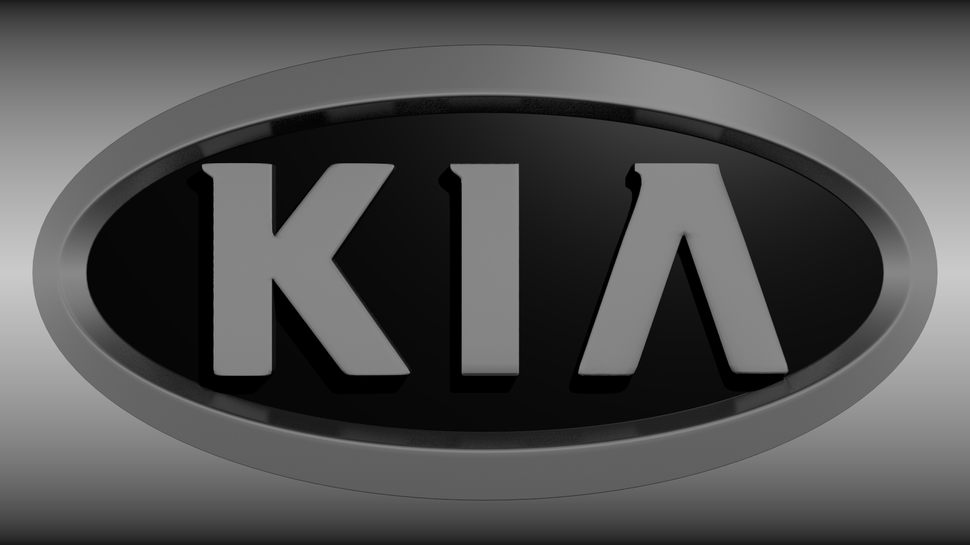 KIA logo 3D Model .obj .blend - CGTrader.com