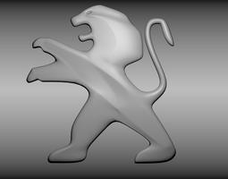 Peugeot logo 3D Model