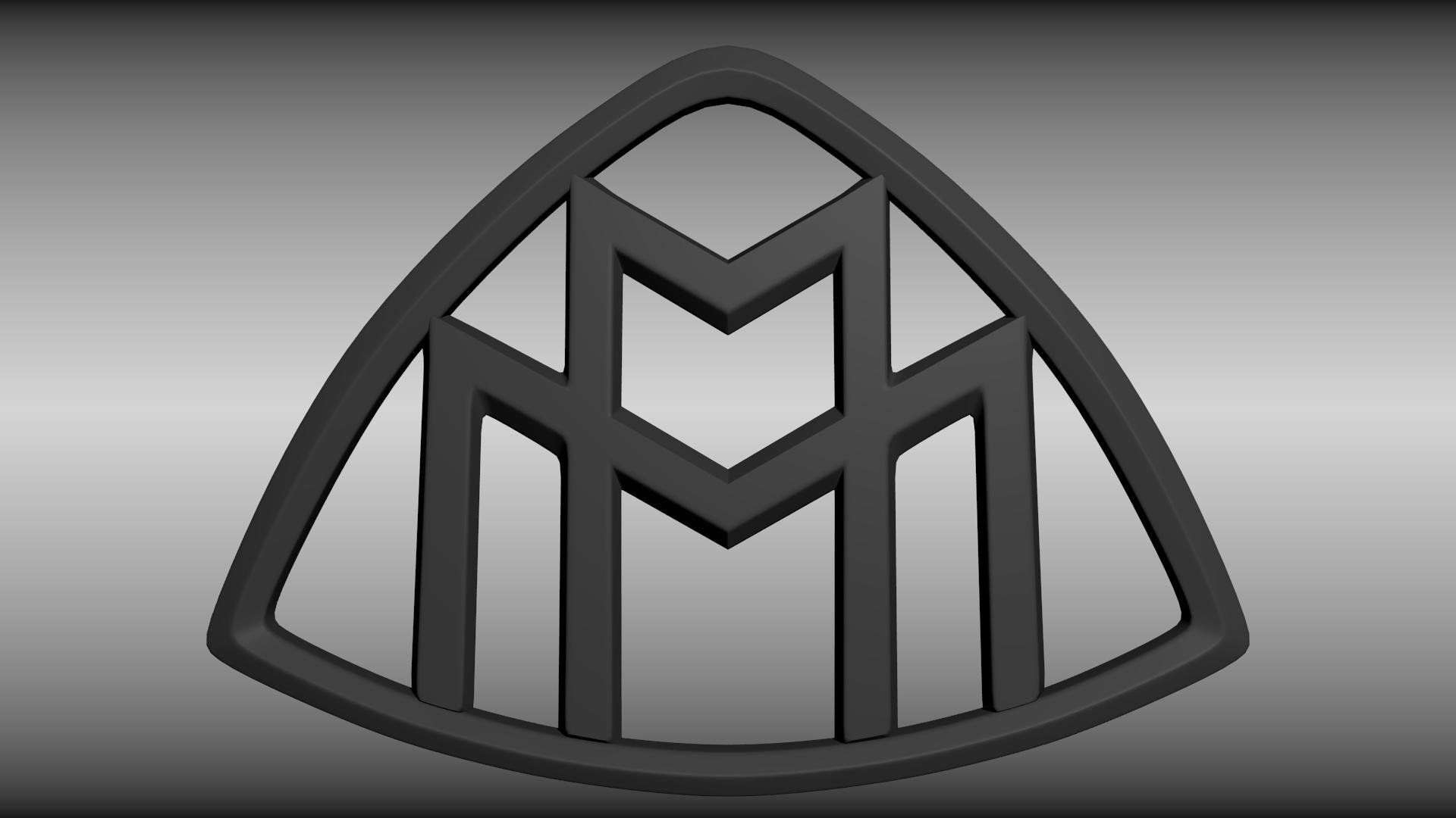 maybach logo 3d model obj blend cgtradercom