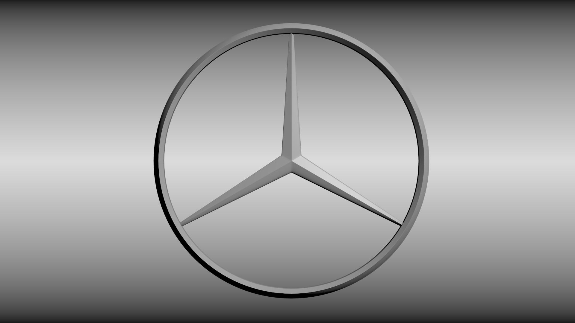 Mercedes Logo 3d Model Obj Blend Cgtrader Com