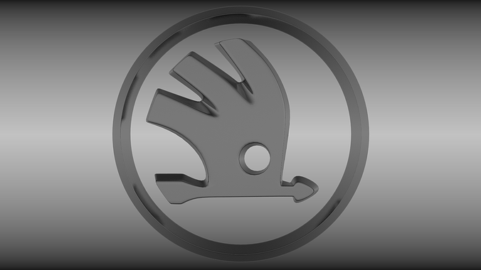 skoda logo 3d model obj mtl blend 1