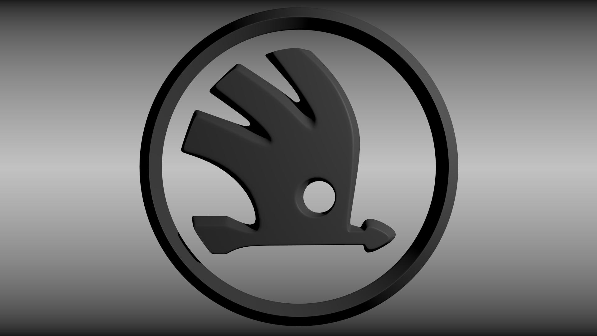 Skoda Logo 3d Model Obj Blend Cgtrader Com