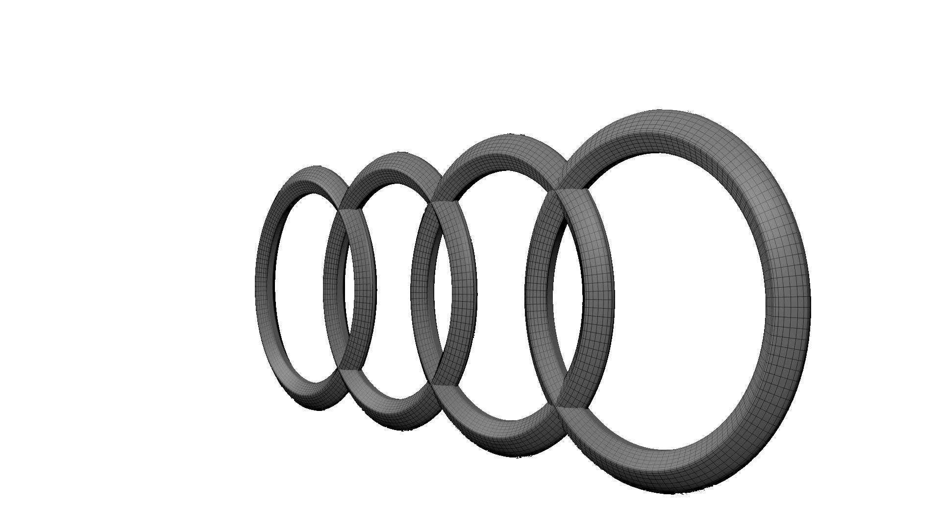 Audi Logo 3d Model Obj Blend Cgtrader Com