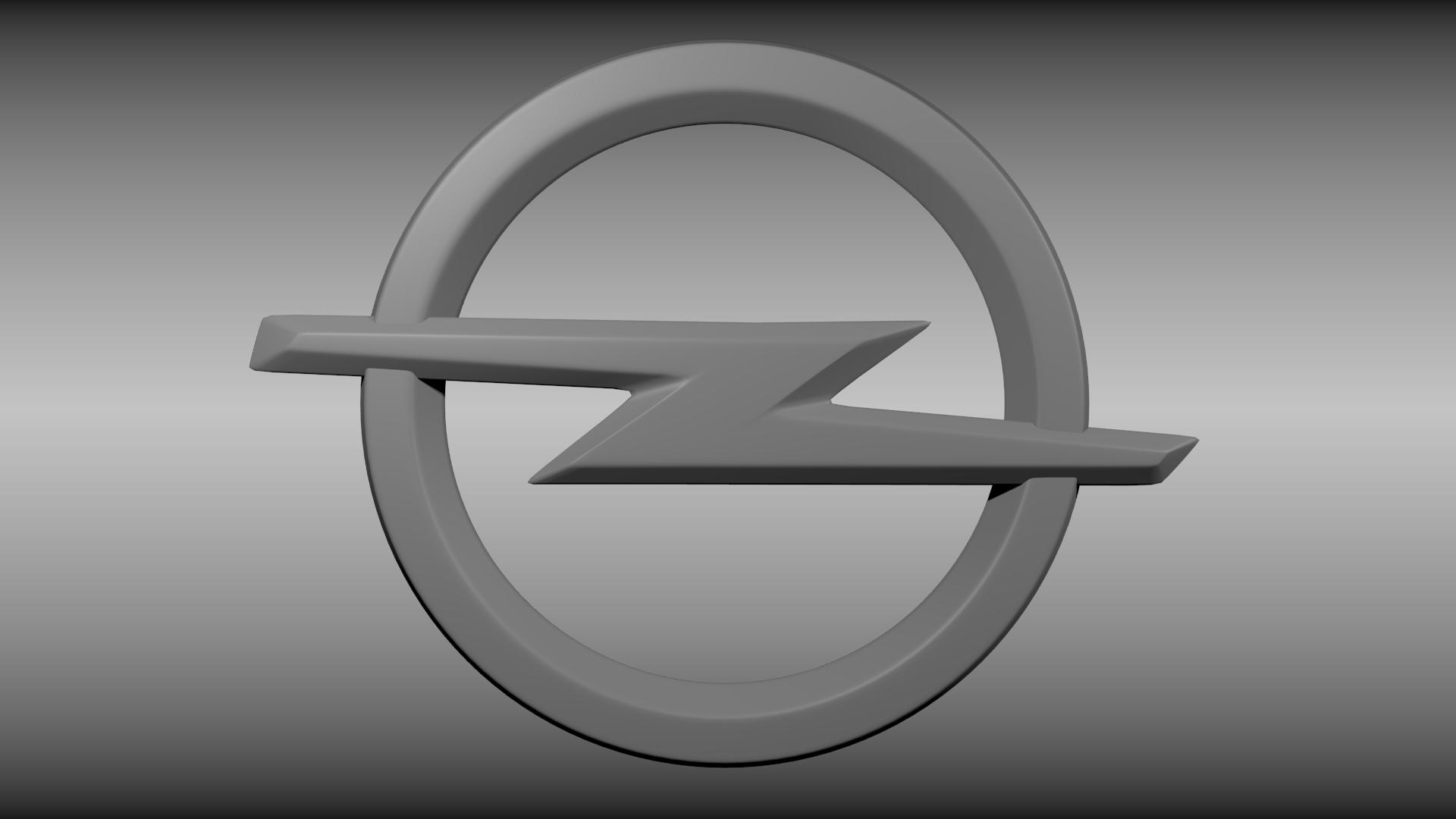 Opel Logo Opel logo 3D Model OBJ...