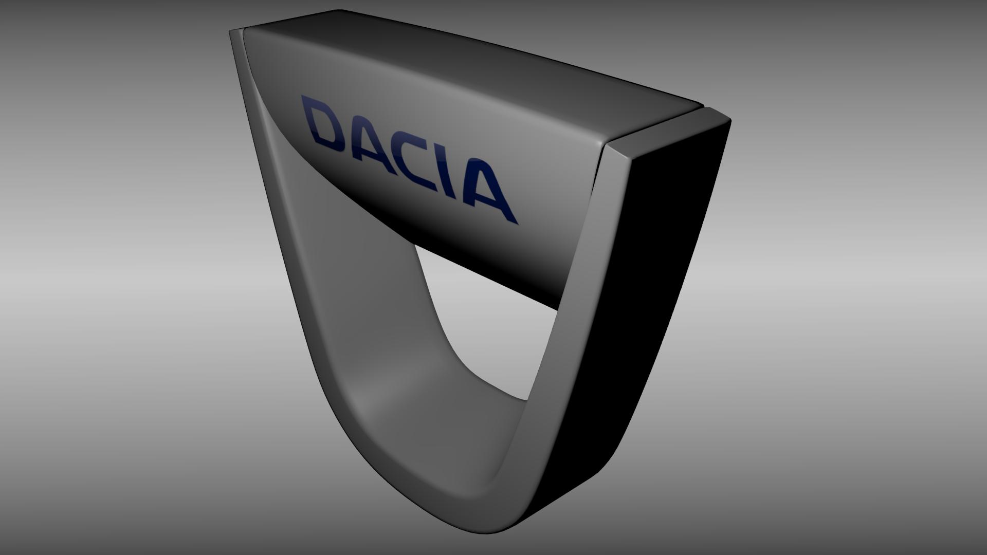 dacia logo 3d model obj blend cgtradercom