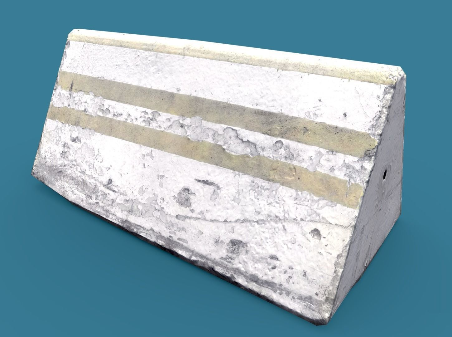 Lowpoly Concrete Barrier Small