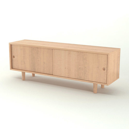 Contemporary wooden sideboard 3d cgtrader for Sideboard 3d