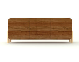 contemporary wooden cabinet 3d model max obj