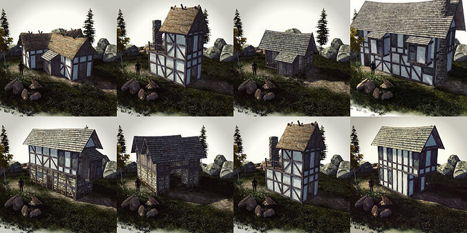 Medieval house model free