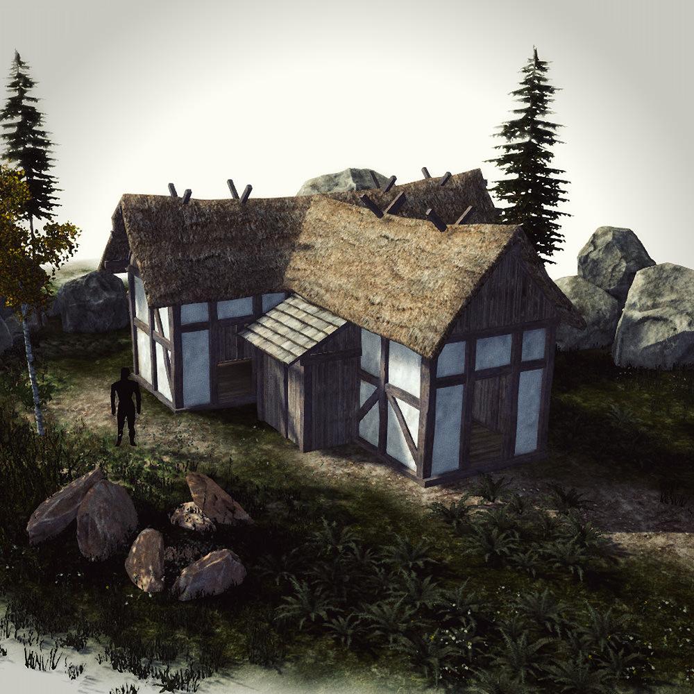 FREE Medieval Buildings Sample Model Free 3D Model Game