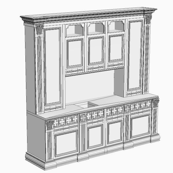 Kitchen cabinet 3D Model MAX 3DS FBX | CGTrader.com