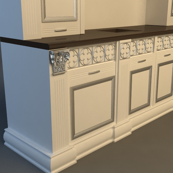 Kitchen cabinet 3d model max 3ds fbx for Kitchen modeler