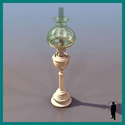 Vintage Gas Wall Lamps : VINTAGE GAS LAMP 1890 3D Model .max- CGTrader.com