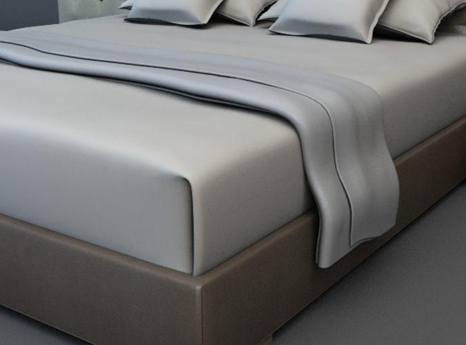 Bed 3 3d model max obj 3ds fbx for 3ds max bed model
