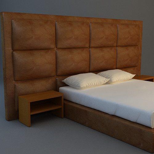 Bed 4 3d model max obj 3ds mtl for 3ds max bed model