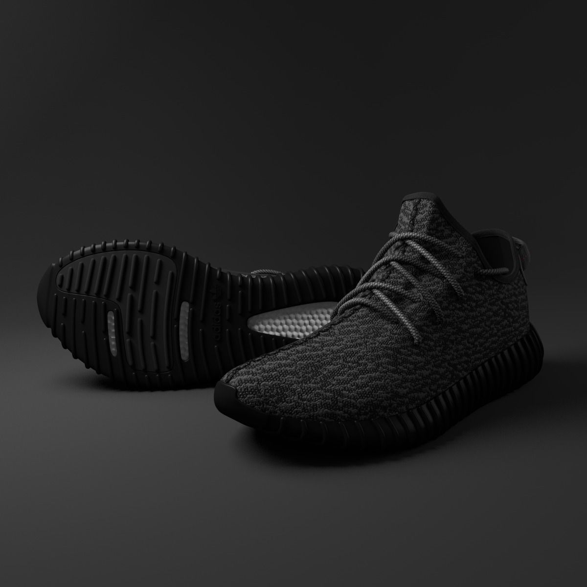 Adidas Shoes 3d Model