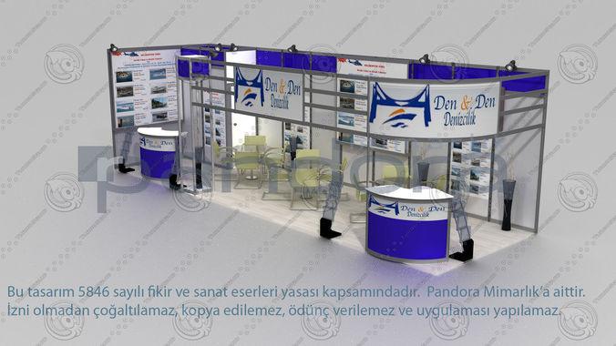 den-den exhibition stand design 3d model max 1