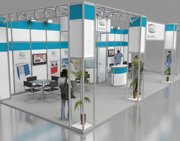 ER Metal exhibition stand design 3D