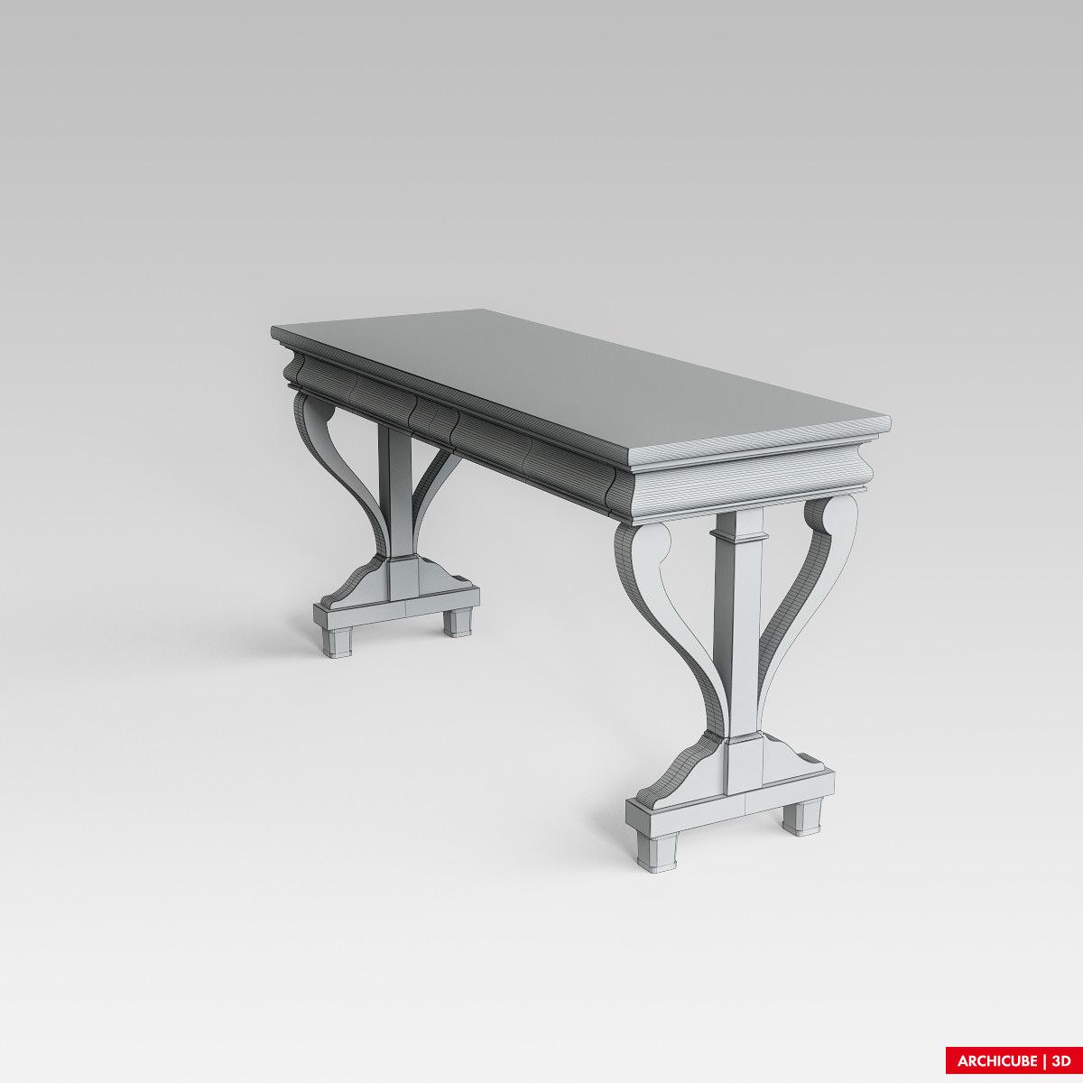 black console table. Black Console Table 3d Model Max Obj Fbx 6