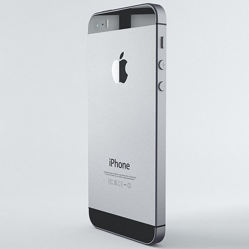 Apple Iphone 5s Space Grey 3d Model Max Obj Fbx C4d 7