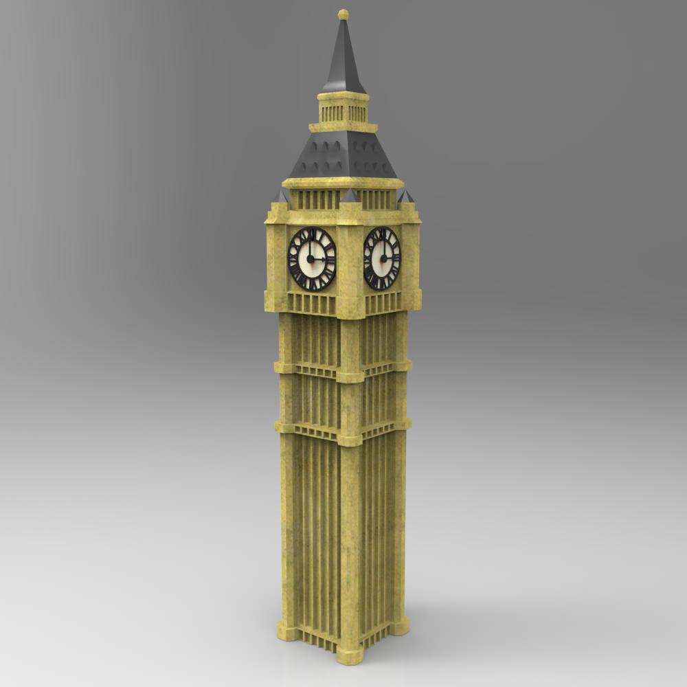 Big Ben 3d Model Obj Cgtrader Com