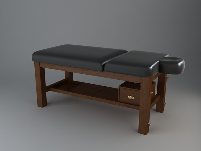 leather massage table 3d model max obj 3ds fbx. Black Bedroom Furniture Sets. Home Design Ideas