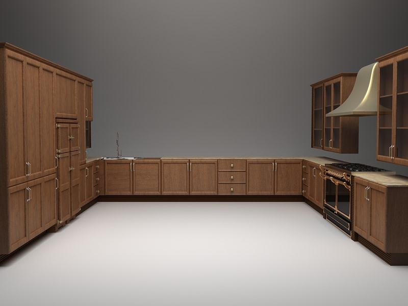 Models Of Kitchen Cabinets Complete Kitchen Cabinets Appliances 3D Model MAX