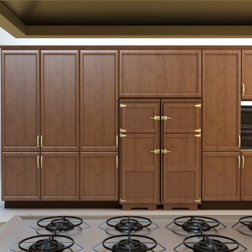 Complete kitchen cabinets appliances 3d model max for Full set kitchen