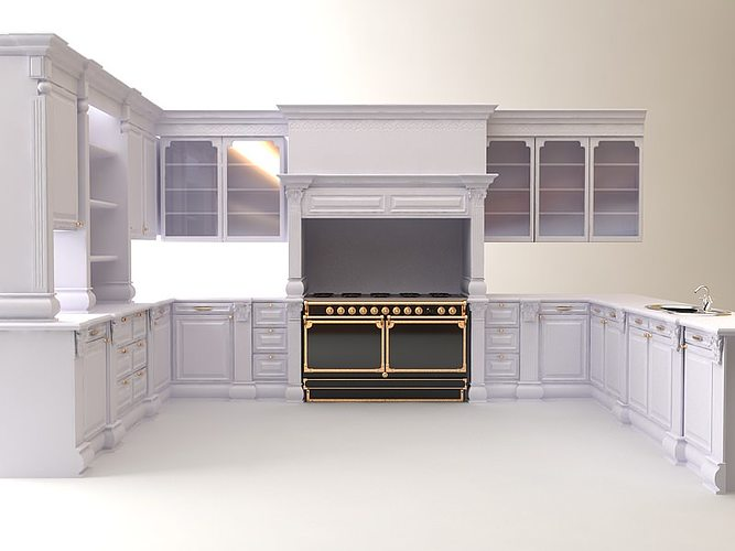 kitchen cabinets appliances 3d cgtrader