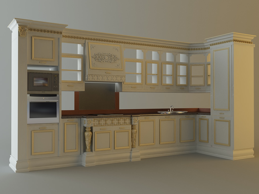 Kitchen cabinets appliances 28663 3d model max for Kitchen cabinets models