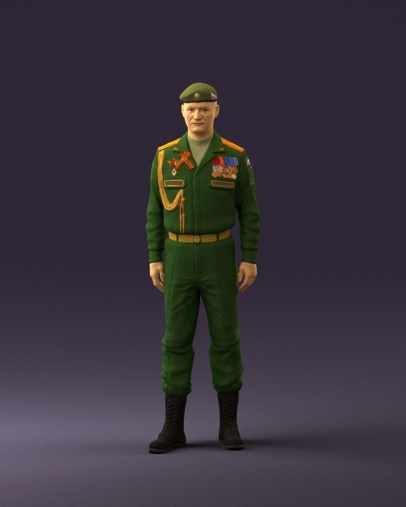 Man in russian military uniform 0896